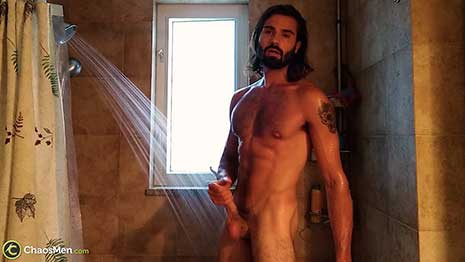This hot Canadian submitted this very hot shower video. I'd love to get him in the studio, but for now, we get to see his homemade video. Jean has got a very hot muscular body with hair in all the right places! He has a nice long uncut cock that looks delicious.