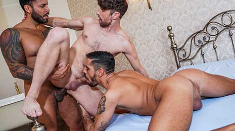 Viktor Rom fucks Valentin Amour and Drew Dixon rough and bareback on Lucas Entertainment! It's no understatement to say that Viktor Rom's appetite for tight young bottoms is insatiable.