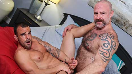 Damien Crosse loves how Musclebear Montreal's new jock strap is fitting him. While alone, they find ways to enjoy each other's company with kissing, dick sucking, anal and a few other surprises!
