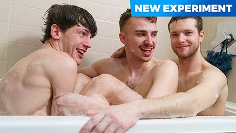 Here's today's experiment! Soccer teammates Benjamin Blue, Edward Terrant and Ryan Jacobs get home after winning the game and start teasing each other for being all dirty and covered in mud.