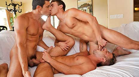 Rafael Carreras fucks Allen King and Oliver Hunt with his huge uncut cock on Lucas Entertainment! There's no rest for someone as young and horny as Oliver Hunt, and this time he finds himself...