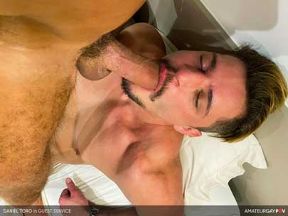 It's always exciting to visit a new city. Sao Paulo is filled with hot nightlife and even hotter guys, and the local hospitality is off the charts. So, when slutty muscular bottom Daniel Toro gives a tour...