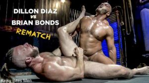 Dillon Diaz and Brian Bonds are back on the wrestling mat for a rematch. Dillon tapped out first round and got his ass fucked! Now he is ready to take it all back and retaliate only this time the...